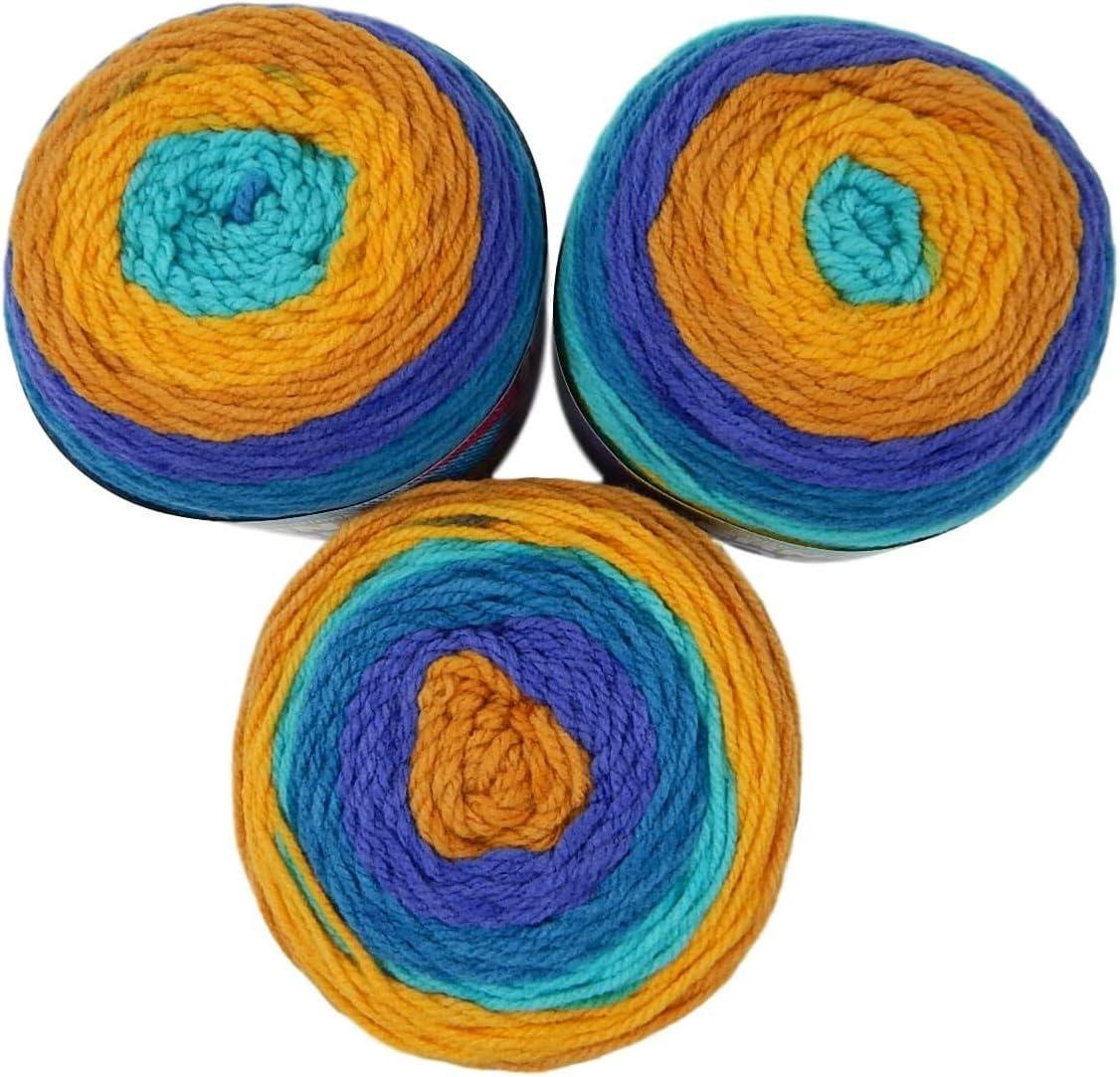 Acrilico 20 x 6 x 6 inches Gold Rush River Bernat Pop-Pack of 3 BALLS-140G Each Ball