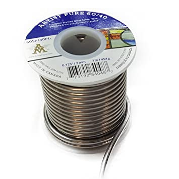 1630537b72e Artist Pure 60 40 Premium Stained Glass Solid Core Solder Wire