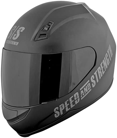 Speed and Strength Go For Broke Mens SS700 On-Road Racing Motorcycle Helmet - Black
