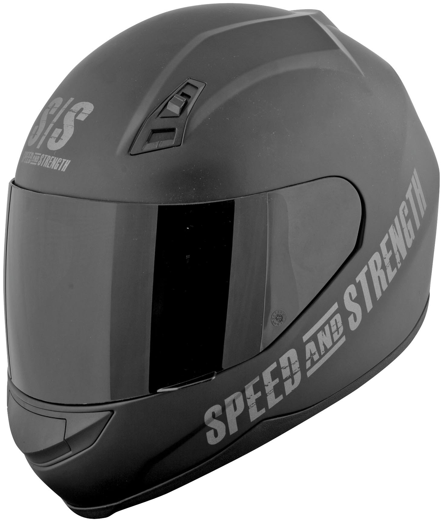 Speed and Strength Go For Broke Men's SS700 On-Road Racing Motorcycle Helmet - Black / Large