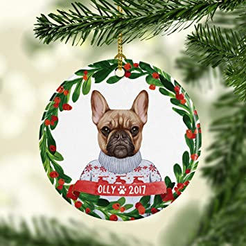 Dog Ornament Pet Gift French Bulldog Ornament French Bulldog Christmas  Ornament Dog Christmas Ornament Personalized - Amazon.com: Dog Ornament Pet Gift French Bulldog Ornament French
