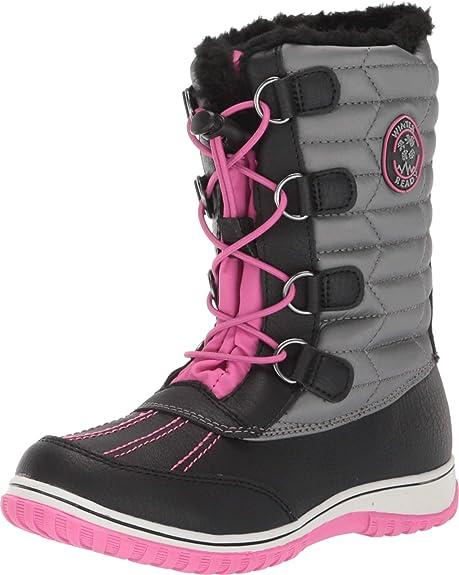 Fuchisia Zipper Open Faux Fur Booties Toddlers Kids Girls Winter Boots Shoes