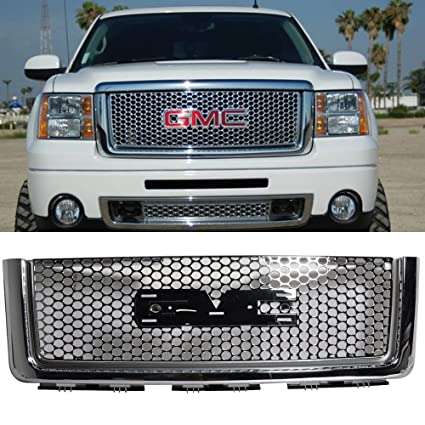 Amazon 0711 GMC Sierra Denali Round Hole Mesh Front Hood. 0711 GMC Sierra Denali Round Hole Mesh Front Hood Grille Chrome. GM. 2011 GMC Sierra Hood Parts Diagram At Scoala.co