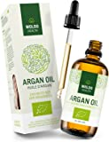 Argan-Oil 100% Pure and Organic Moroccan Cold-Pressed - 100ml Extra Virgin Marrocanoil for Cuticle Oils, Hair Treatment, Dry Hairs, Split Ends
