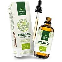 Bio-Arganöl 100ml kaltgepresst biologisches Serum für Gesicht - Haut Haare, 100% aus Marokko Gesichtspflege & Körper Öl