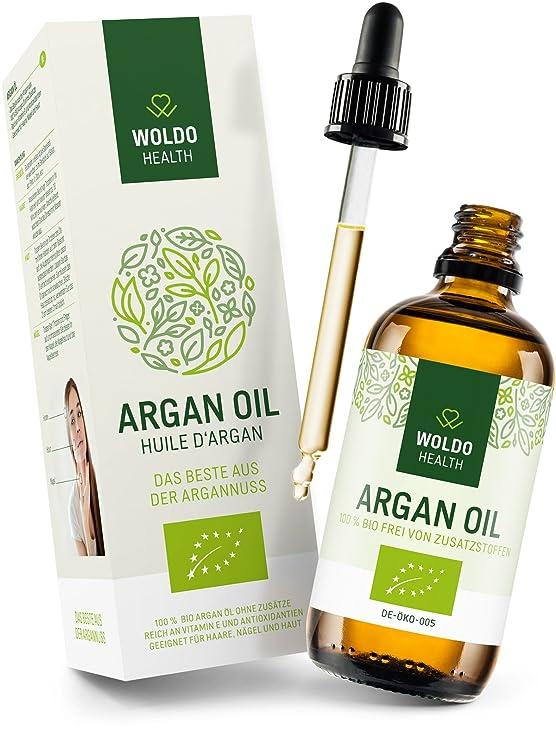 WoldoHealth 100% Aceite de Argán orgánico puro de Marruecos las uñas la piel el pelo para la cara 3x 100ml: Amazon.es: Belleza