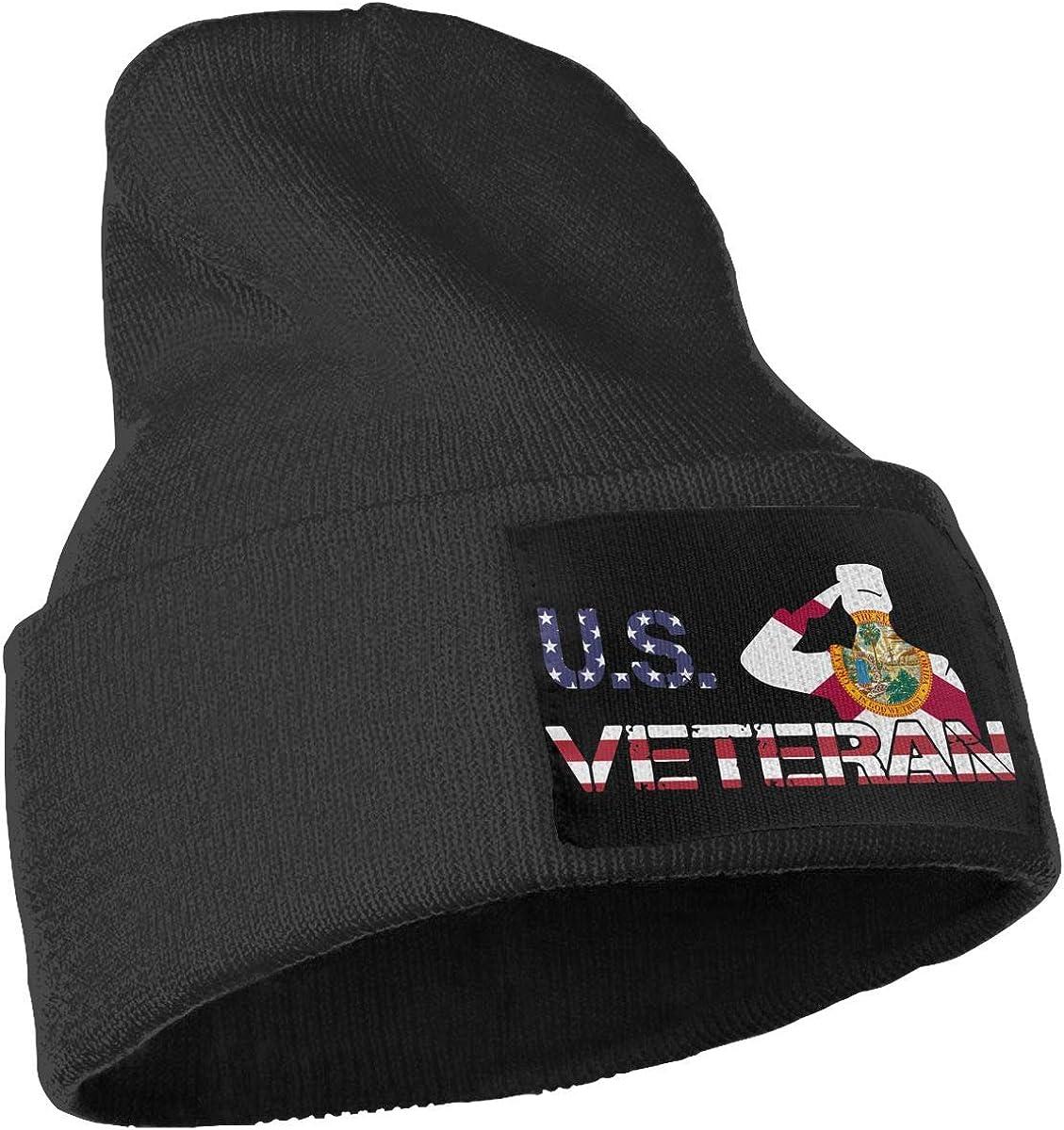 COLLJL-8 Men /& Women American Veterans Day Florida Flag Outdoor Stretch Knit Beanies Hat Soft Winter Skull Caps