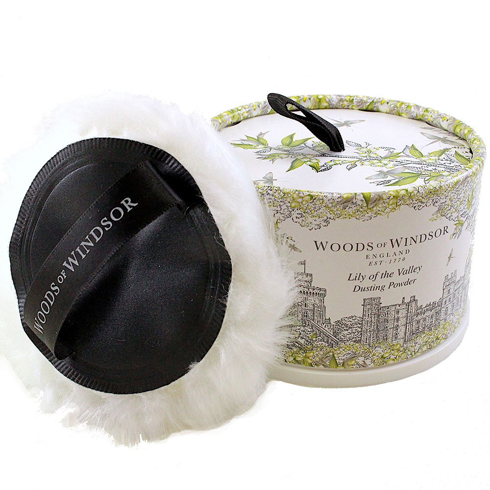 Woods of Windsor Body Dusting Powder with Puff for Women, Lily of The Valley, 3.5 Ounce W170023-6