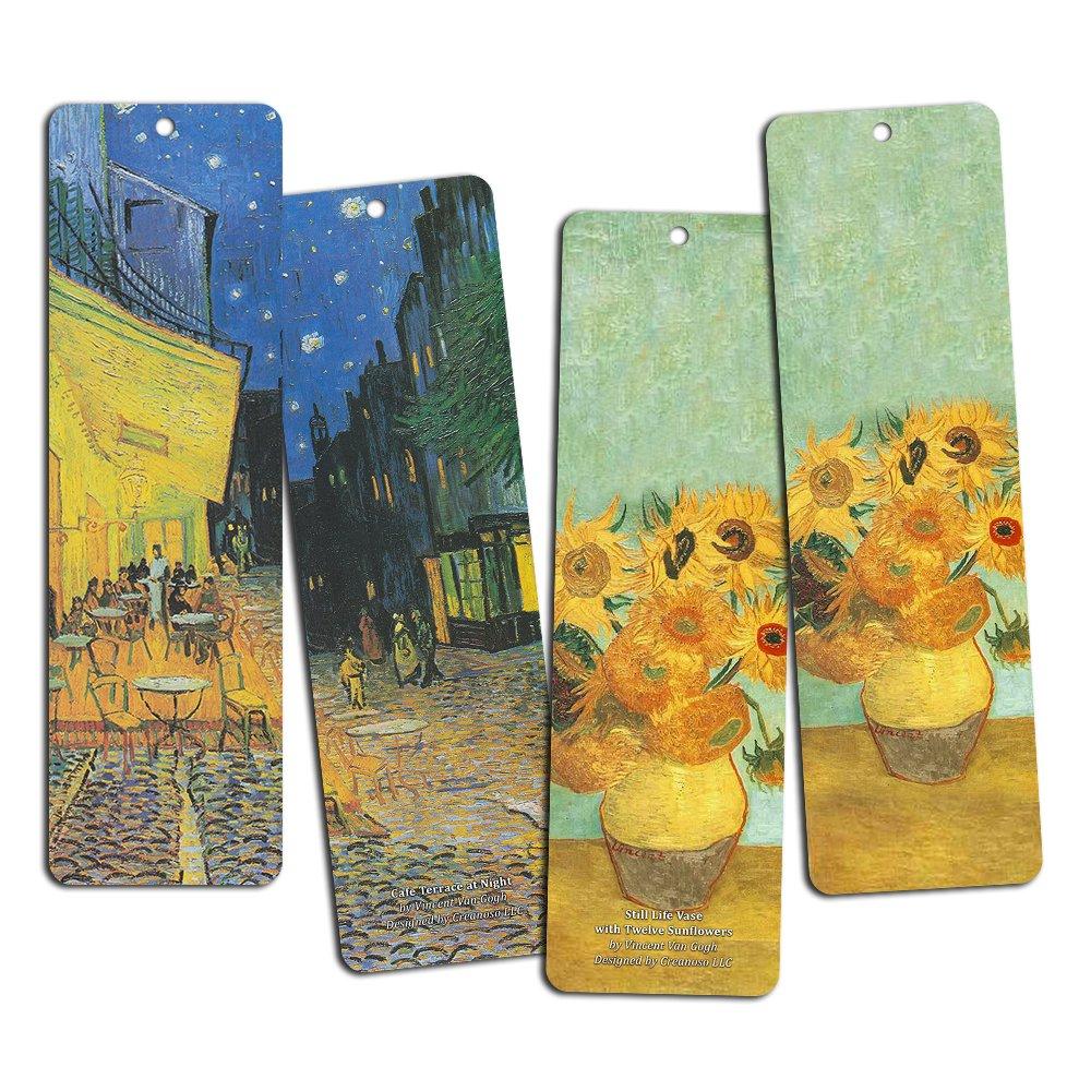 confezione da 12 segnalibri meravigliosi per uomo ragazzi donna adolescenti e bambini segnalibri da libro fantastici ragazze Segnalibri Van Gogh