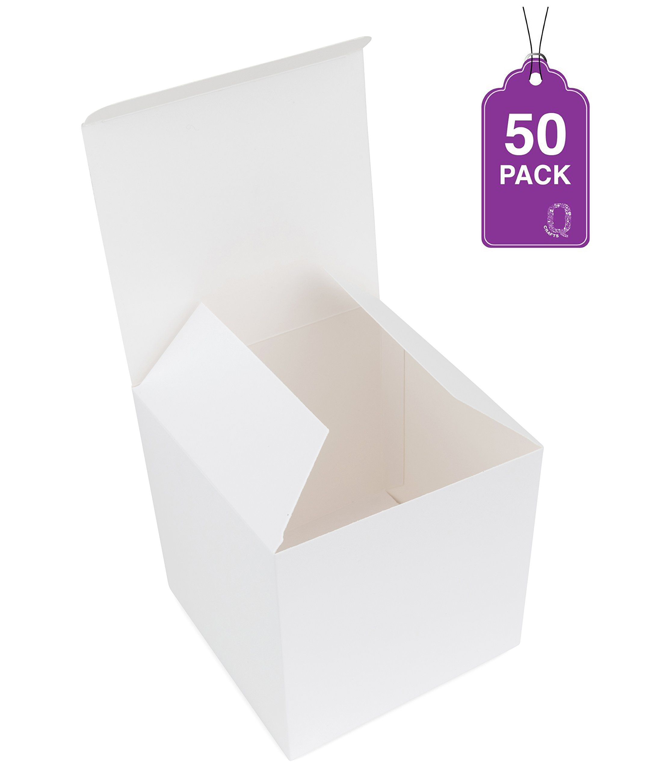 Gift Boxes White 50 Pack 4 x 4 x 4 Great For All Occasions Cupcake boxes, Craft box