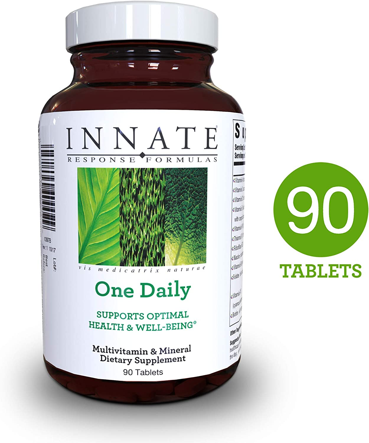 INNATE Response Formulas – One Daily, Herb Free Multivitamin in One Convenient Tablet, 90 Tablets