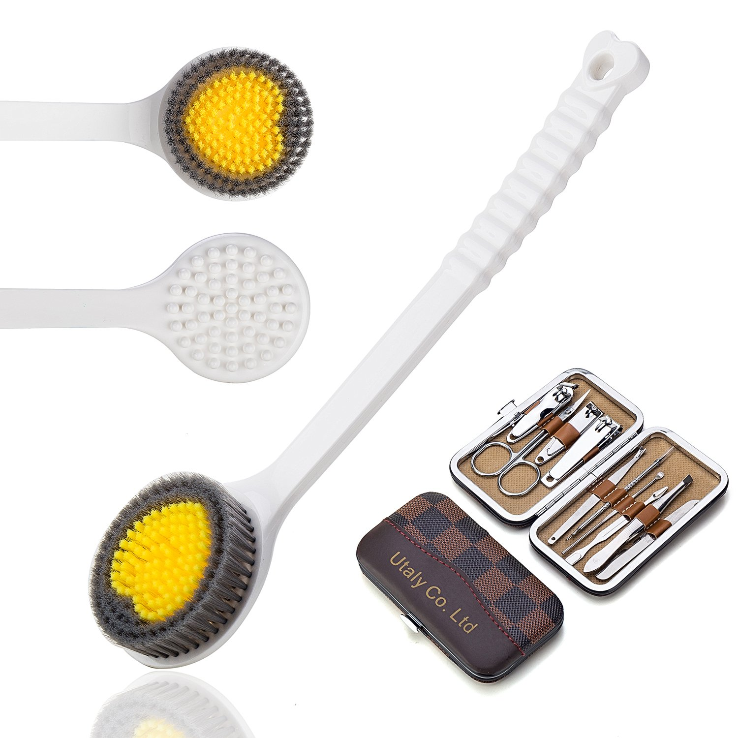 Bath Brush Shower Back Exfoliator with Manicure-Set Utaly