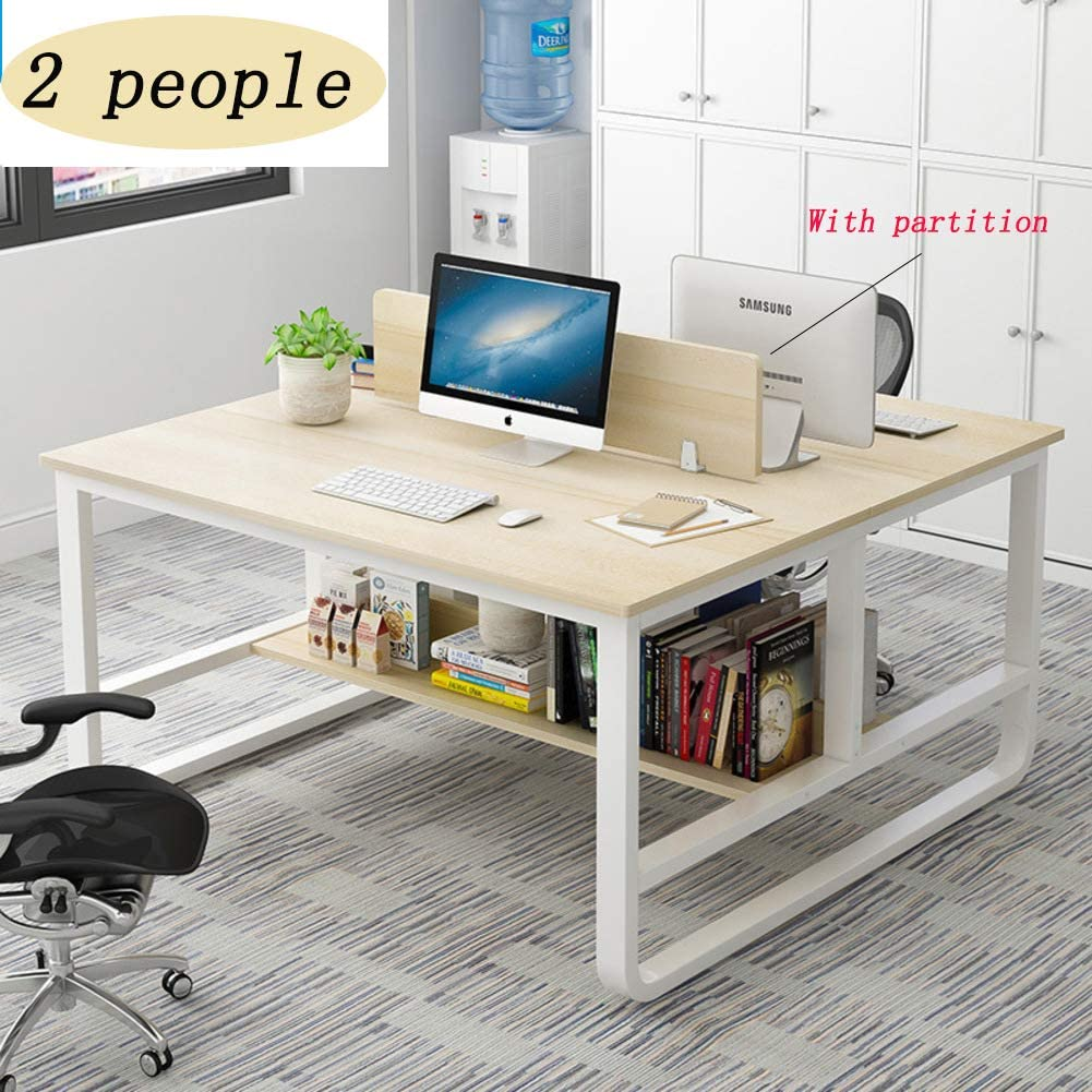 Desk Office Computer Desk Large Computer Table,Writing Desk Worktable Workstation Pc Laptop Table Modern Studio Desk for Office Home-g 120x120x95cm(47x47x37in)