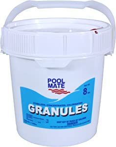 Pool Mate 1-1308 Stabilized/Concentrated/Chlorinating Granules, 8-Pound