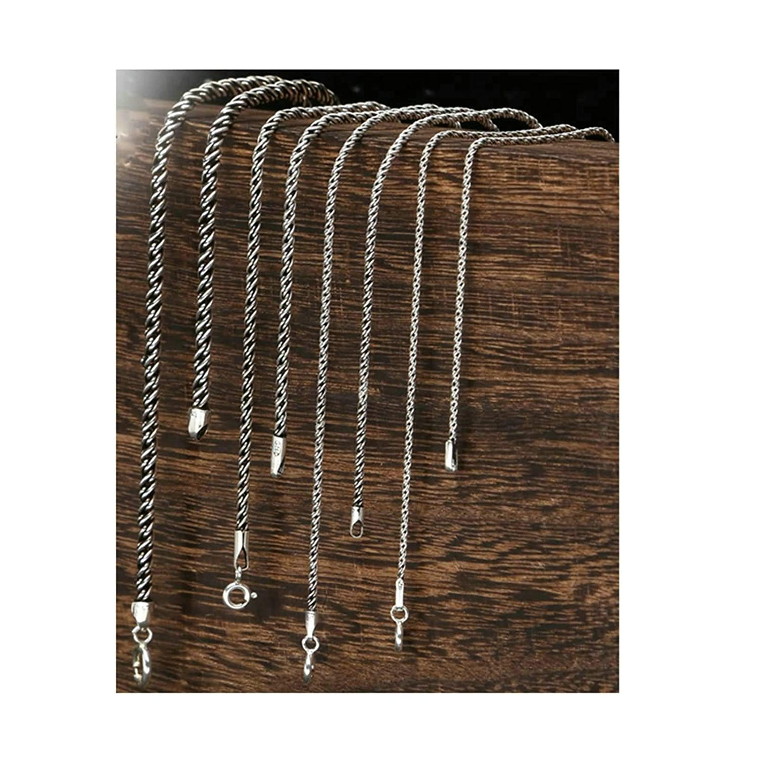 Aooaz Personalized Necklaces Round Chain Mens Silver Chain Necklace