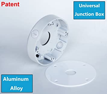 "3//4/""-outlet Camera Connector Housing-WHITE 4 white Junction-Boxes small"