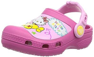 b65b7327877506 Crocs Girls  Creative Hello Kitty Plane Clogs  Amazon.co.uk  Shoes ...