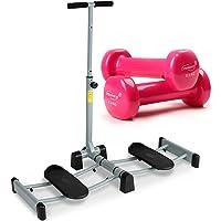 Physionics - Appareil de fitness pliable pour musuclation des jambes/cuisses/fessier + paire d'haltères en vinyle – 2 x 0,5 kg – POIDS D'HALTÈRES AU CHOIX