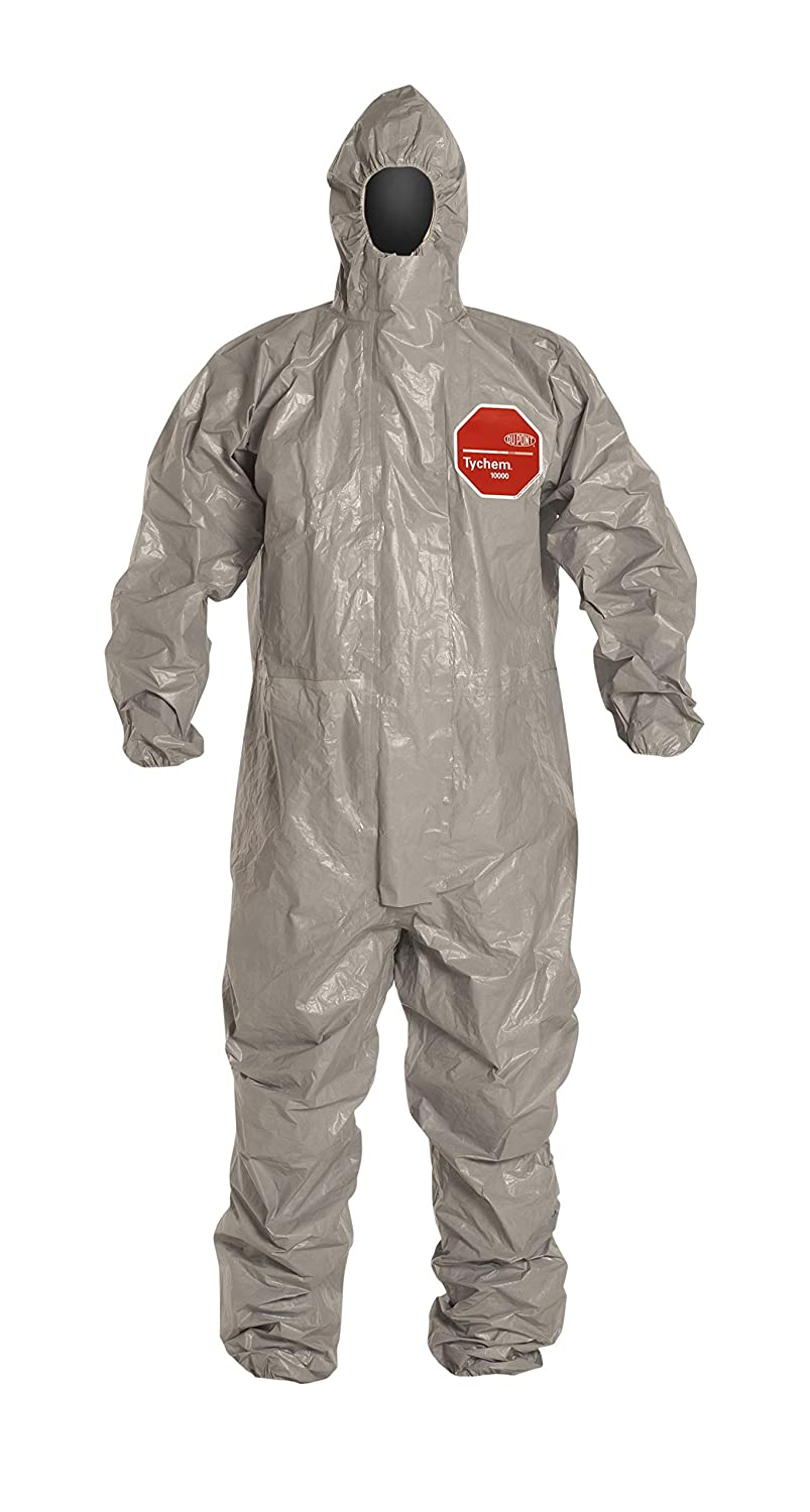 I Medium du Pont de Nemours and Company Gray DuPont Protection Technologies a business unit of E DuPont TF169TGYMD0006TV Tychem 6000 Hooded and Booted Coverall