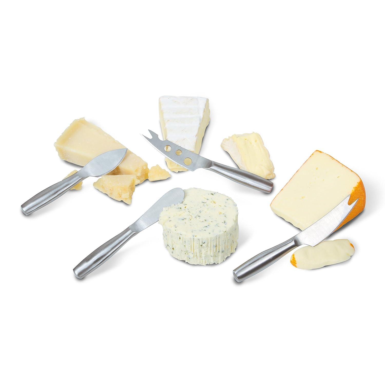 BOSKA Copenhagen 4-Piece Cheese Set, Stainless Steel, Silver, 17.5 x 14.5 x 2 cm 357610