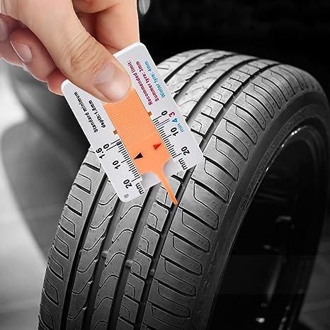 Weaverbird Profiltiefenmesser 0 20 Mm Kunststoff Reifenprofil Tiefenmesser Tragbares Reifenprofil Tiefenmessgerät Für Auto Motorrad Anhängerrad Gelb Auto