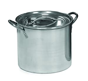 IMUSA USA L300-40317 Stainless Steel Stock Pot 20-Quart, Silver