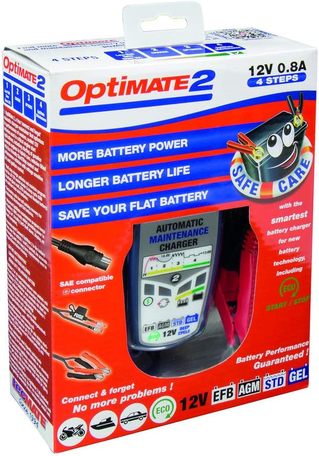 Chargeur Intelligent 12V 0.8amp Chargeur Classe Chargeur Optimate 2