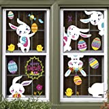 D-FantiX Bunny Easter Window Clings Decorations 8