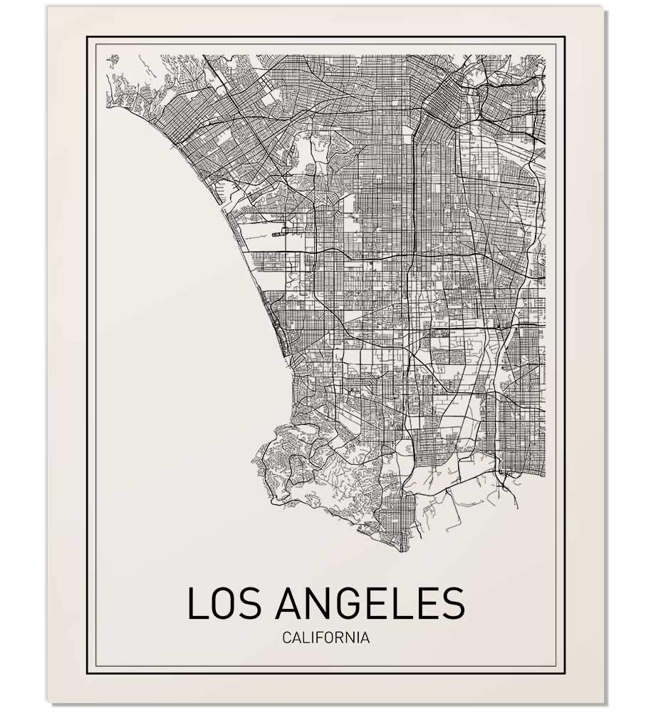 photo about California Map Printable named Los Angeles Map, Metropolis Map Posters, Los Angeles Print, California Print, California Map, Los Angeles Poster, Black and White Map Print, Map Wall Artwork,