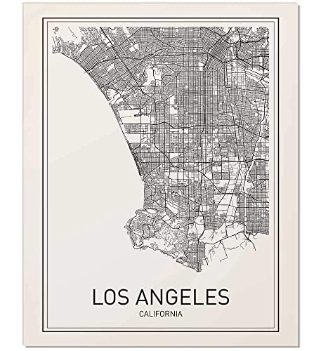 photo relating to Printable Map of Los Angeles referred to as Los Angeles Map, Metropolis Map Posters, Los Angeles Print, California Print, California Map, Los Angeles Poster, Black and White Map Print, Map Wall Artwork,
