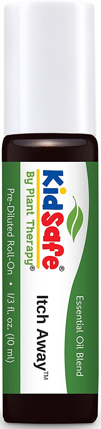 Plant Therapy KidSafe Itch Away Synergy Pre-Diluted Roll-On 10 mL (1/3 oz) 100% Pure, Therapeutic Grade
