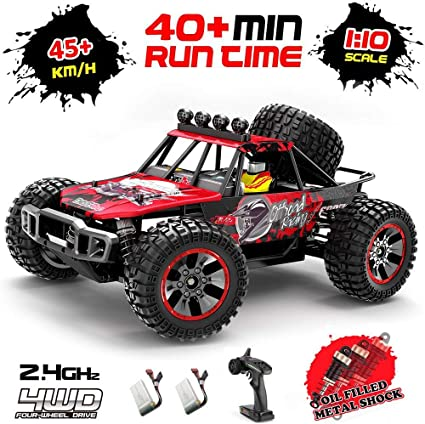 1:10 Remote Control RC Cars 2.4GHz High Speed Drift Heavy Trucks Toy With Light