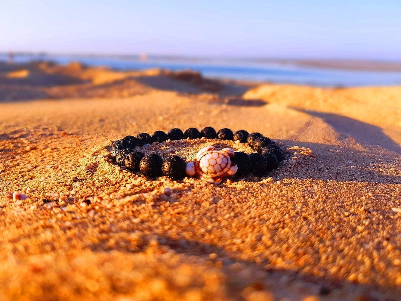 bracelet de yoga surfeur bracelet pour homme et femme KARDINAL WEIST lave bracelet avec perle de tortue howlite