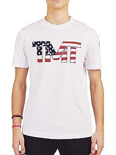 f513835688 TMT T-Shirt Maniche Corte Colore Nero Logo Oro Estiva Uomo Donna ...