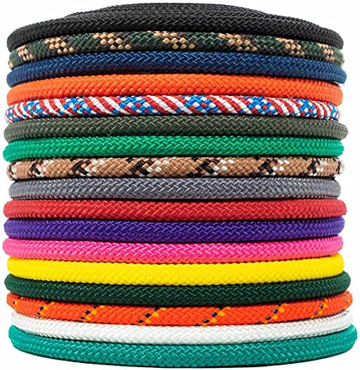 Moisture and Mildew Resistant Nylon Rope Utility Rope 1//4 inch and 3//8 inch Golberg for Crafts 50 Feet, 100 Feet, 300 Feet /– Available in a Variety of Colors Polypropylene Sheath