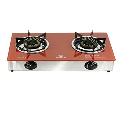 Incroyable Hercules Super Heavy Duty 2 Burner Portable Gas Stove Cooktop   Tempered  Glass Top