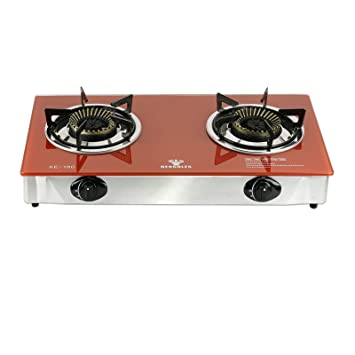 portable gas stove top. hercules super heavy-duty 2-burner portable gas stove cooktop - tempered glass top s