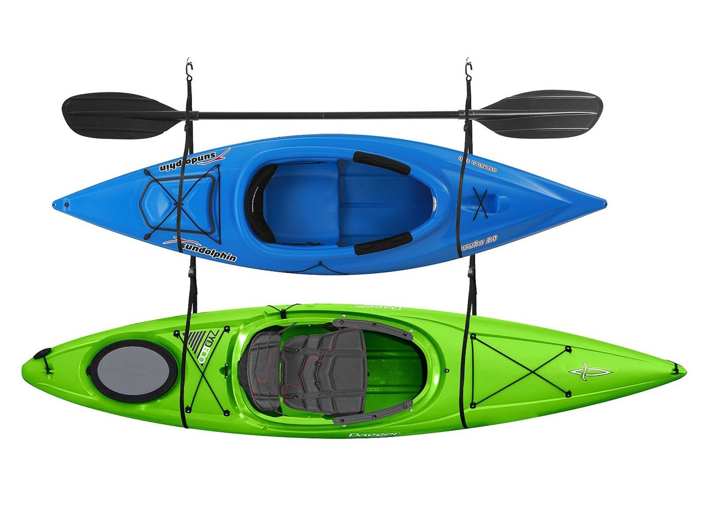 Kayak Hoist Straps Double Storage Garagecanoe 100 Lb Capacity