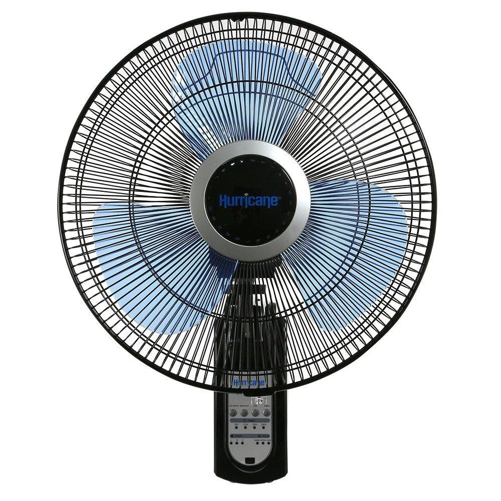 Hurricane 736565 Fan, Super 8 Oscillating 16 Inch Wall, Black by Hurricane