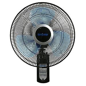Hurricane 736565 Fan Super 8 Oscillating 16 Inch Wall, Black