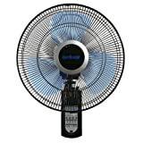 Amazon Price History for:Hurricane Wall Mount Fan - 16 Inch | Super 8 | Wall Fan with Figure 8 Pattern Technology, Remote Control Included, 3 Speed Settings, 3 Oscillating Settings - ETL Listed, Black