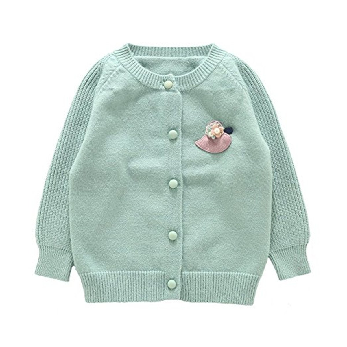 REWANGOING Baby Little Girls Kid sCashmere Cable Knit Front Button Cardigan Sweater RcVBar91