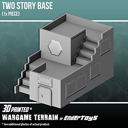 graphic relating to Free 3d Printable Terrain named EnderToys 2 Tale Foundation, Terrain Landscapes for Tabletop 28mm Miniatures Wargame, 3D Revealed and Paintable