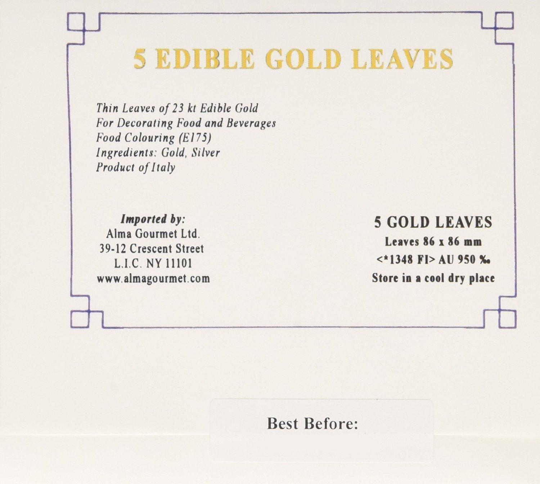 Manetti 23K Edible Gold 3.4'' x 3.4'' - 5 Leaves