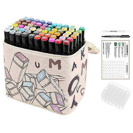 60 colores puntas dobles resaltadores de géminis marcadores ...