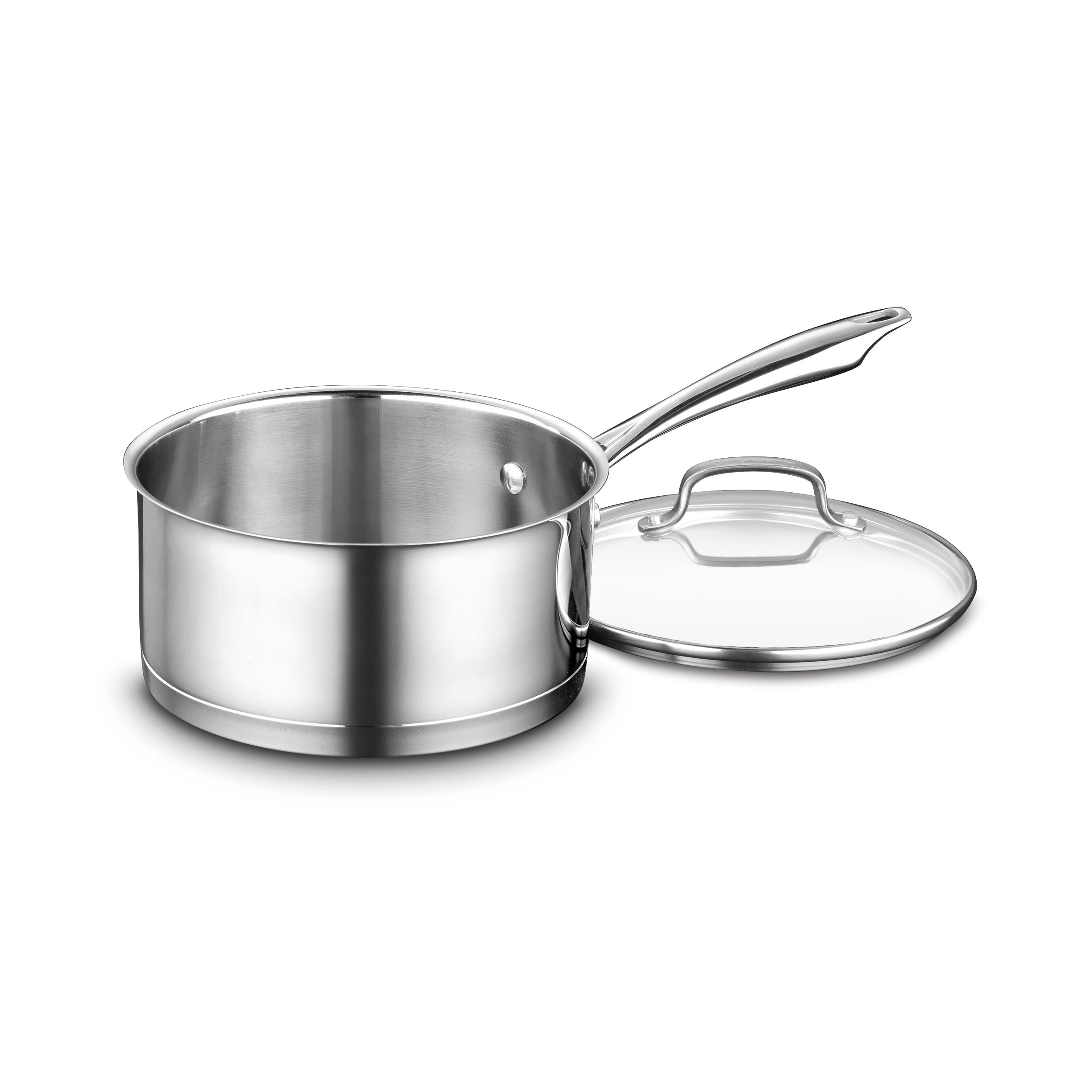 Cuisinart 89193-20 Professional Stainless Saucepan with Cover, 3-Quart, Stainless Steel by Cuisinart (Image #1)