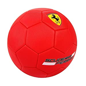 Swagspin Licensed Ferrari Red Football Soccer Balls Size-5 Club Team Sports