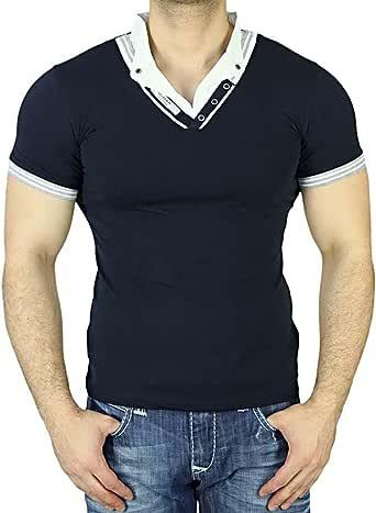belman Hombre Manga Corta Cuello En V Japan Style – Camiseta ...