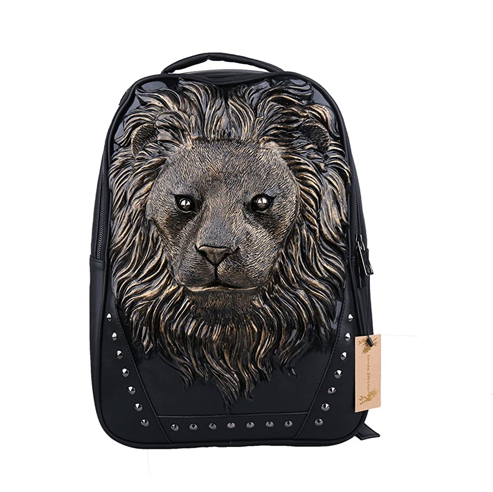Genda 2Archer 3D Lion Head Casual Daily Use Backpack