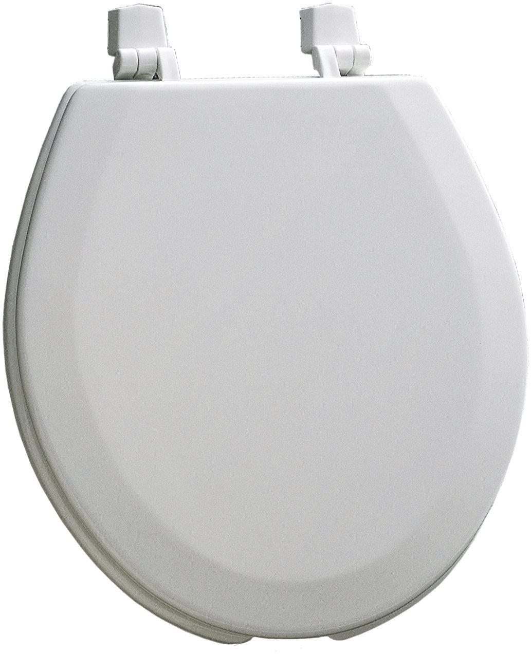 Mayfair 440EC 000 Open Front Molded Wood Toilet Seat with Dial-On Hinges, Round, White